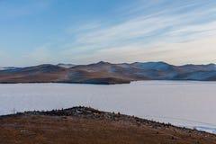 Ansicht von der Insel von Olkhon Lizenzfreie Stockfotos