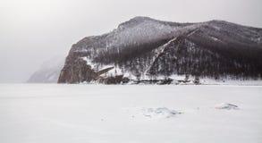 Ansicht von der Insel von Olkhon Lizenzfreie Stockbilder