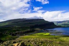 Ansicht von der isländischen Schlucht Lizenzfreies Stockbild