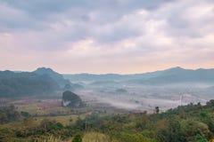 Ansicht von der Kaffeestube an Berg Phu Langka Stockbild