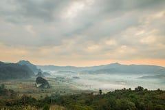 Ansicht von der Kaffeestube an Berg Phu Langka Stockfoto