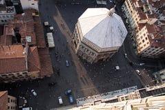 Ansicht von der Kathedrale stockfotos