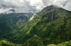 Ansicht von der kleinen des Adams Spitze, Sri Lanka Stockfotos
