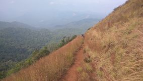 Ansicht von der Kodachadri-Trekkings-Spur lizenzfreie stockfotografie