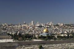Ansicht von der Montierung der Oliven der Tempel-Montierung Stockfotos