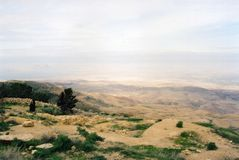 Ansicht von der Montierung Nebo Stockfotos