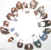 Ansicht von der Oberseite Aktionärsversammlung der Firma an lizenzfreie stockfotos