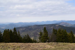 Ansicht von der Oberseite des Berges Stockfotografie