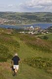 Ansicht von der Oberseite des Conwy Berges Lizenzfreie Stockfotografie