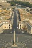 Ansicht von der Oberseite des Vatican Stockbild