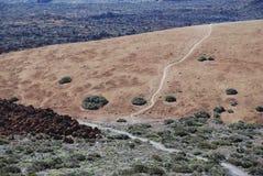 Ansicht von der Oberseite des Vulkans Teide, Tenerife Stockbild