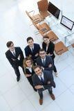 Ansicht von der Oberseite eine Gruppe freundliche Kollegen Lizenzfreie Stockbilder