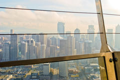Ansicht von der Platz-Nadel in Seattle Stockbild