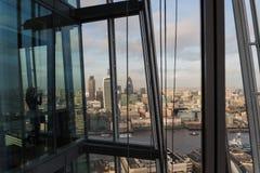 Ansicht von der Scherbe von London-Skylinen stockfoto
