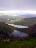 Ansicht von der Snowdon Spitze - Wales Lizenzfreie Stockfotografie