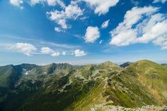 Ansicht von der Spitze der Berge Stockbild