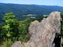 Ansicht von der Spitze des Bärnsteinhügels stockbilder