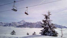 Ansicht von der Spitze des Berges Lizenzfreie Stockbilder