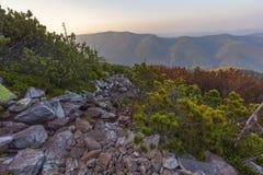 Ansicht von der Spitze des Berges auf der Bank Lizenzfreie Stockbilder