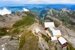 Ansicht von der Spitze des Bergs Santis, die Schweiz Stockbilder