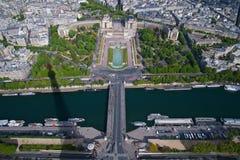 Ansicht von der Spitze des Eiffelturms Lizenzfreie Stockfotografie