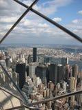 Ansicht von der Spitze des Empire State Building, NYC lizenzfreie stockbilder