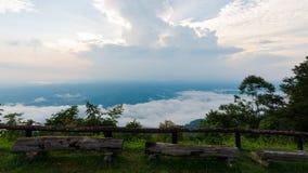 Ansicht von der Spitze des Hügels in Nan Lizenzfreies Stockbild