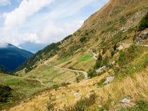 Ansicht von der Spitze des Passo San Marco Stockfotos