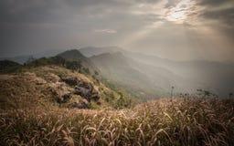 Ansicht von der Spitze des Standpunkts an Phu-Chi-Fa in Chiang Rai, Tha lizenzfreie stockfotos