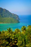 Ansicht von der Spitze Ko Phi Phi Don Stockbild