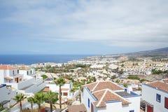 Ansicht von der Spitze Sans Eugenio Alto, Costa Adeje, Teneriffa, Kanarische Inseln, Spanien lizenzfreies stockfoto