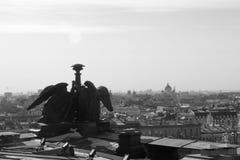 Ansicht von der Spitze St. Isaac Cathedral in St Petersburg stockfoto