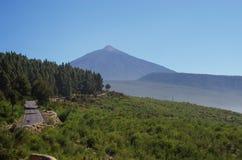 Ansicht von der Spitze Teide-Vulkans, der höchste spanische Berg Stockbilder