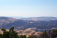 Ansicht von der Spitze Troodos-Berges in Zypern Lizenzfreies Stockbild