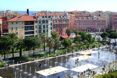 Ansicht von der Spitze zur Mitte von Nizza, Frankreich stockbild