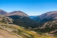 Ansicht von der Spur Ridge Road Stockfotos
