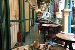 Ansicht von der Tabelle in Harmonique-Restaurant Stockbilder