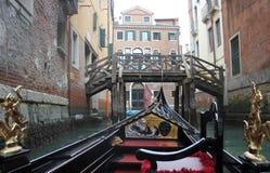 Ansicht von der venetianischen Gondel Lizenzfreie Stockfotografie