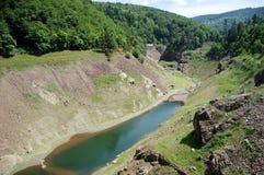 Ansicht von der Verdammung auf dem Fluss Furan, Frankreich Stockfoto