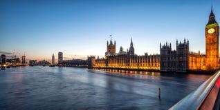 Ansicht von der Westminster-Brücke Stockbild