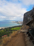 Ansicht von Diamond Head in Honolulu Hawaii Lizenzfreies Stockbild