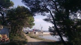 Ansicht von Doc. von der Halbinsel stockfotografie
