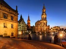 Ansicht von Dresden am Abend deutschland Stockfoto