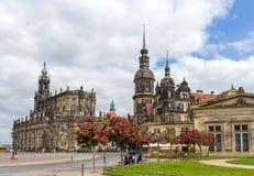 Ansicht von Dresden-Schloss und von Kathedrale - Deutschland Stockfotografie