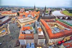 Ansicht von Dresden und von Elbe stockbild