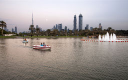 Ansicht von Dubai-Skylinen Stockbilder