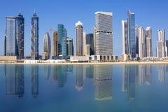 Ansicht von Dubai-Skylinen stockbild