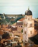 Ansicht von Dubrovnik auf von der Wand Lizenzfreie Stockbilder