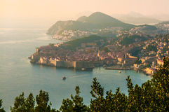 Ansicht von Dubrovnik-Halbinsel Lizenzfreie Stockbilder