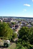 Ansicht von Dubuque Iowa Stockbild